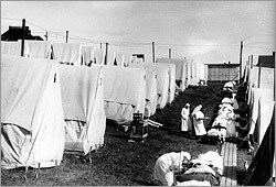 Flu tents for Spanish influenza
