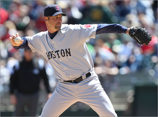 It was Tim Wakefield's day, as he pitched a complete game and didn't allow a hit until the eighth inning. The Sox offense provided 10 hits, and Mike Lowell and J.D. Drew both homered in the win.