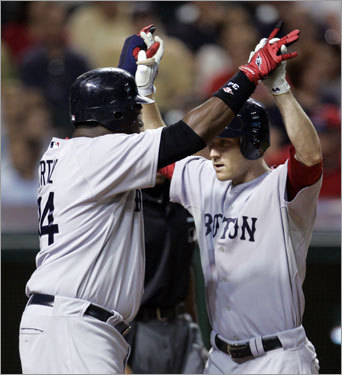 After Cliff Lee and Tim Wakefield staged a pitchers' duel for eight scoreless innings (Wake gave up just one hit), Jason Bay hit a three-run homer in the top of the ninth -- his second huge ninth-inning homer in four days -- to provide Boston the winning edge.
