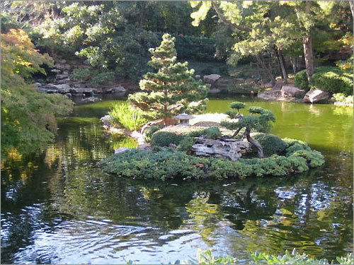 Japanese Garden at the Botanical Garden in Fort Worth, Texas.