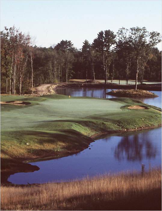 When The Ledges opened in 1999 it was named the top new course in New England by Golf Magazine, and it has been rated one of the top layouts in Maine ever since. It will host a US Amateur qualifying round for the third straight year, and from the back tees it plays nearly 7,000 yards with dramatic elevation changes. The York layout was designed by Brad Booth, who hails from Ogunquit. Booth has designed several courses in Maine and New Hampshire, and he collaborated with PGA Tour pro Brad Faxon on the Bay Club in Mattapoisett. &#145;&#145;The big thing here is our greens,&#146;&#146; said Shawn Welock, the assistant pro. &#145;&#145;They&#146;re pretty fast, with lots of undulations, and they&#146;re very hard to read.&#146;&#146; The Ledges is deceptive in another way. &#145;&#145;People hear that the course is in York, and they think it must be on the beach,&#146;&#146; said Welock. &#145;&#145;We&#146;re actually 10 miles inland. It&#146;s kind of secluded, although we have views of the Piscataqua River Bridge into New Hampshire.&#146;&#146;