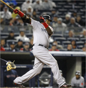 David Ortiz struggled at the plate in Tampa Bay over the weekend, but bounced back Monday night in the Bronx. Two of his first three at-bats resulted in doubles to right field as the Sox scored one run in each of the first four innings.