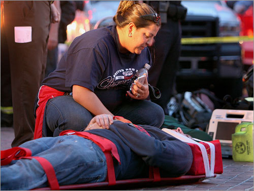 A woman consoled a man that was injured during the Green Line crash on Friday night. Read the article.