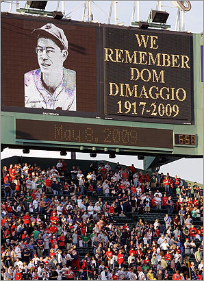 The Red Sox held a brief ceremony remembering their former center fielder the day he died.