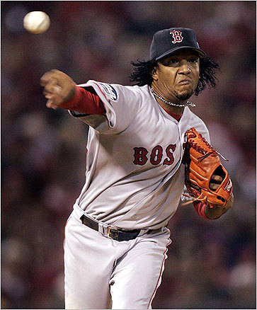 Pedro Martinez While injuries robbed him of some of his velocity, Pedro in his prime was as overpowering as any pitcher ever to step on a major-league mound, and the argument can be made that Pedro's stretch of dominance from 1998-2003 is the greatest multi-season run by a pitcher in the history of baseball. In 1999, he struck out 313 batters in 213.1 innings, for an off-the-charts strikeouts-per-nine-innings ratio of 13.2.