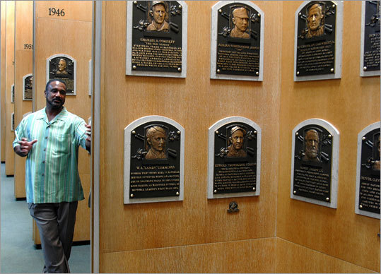 A room full of plaques of Hall of Famers will soon be adorned with a Rice plaque.