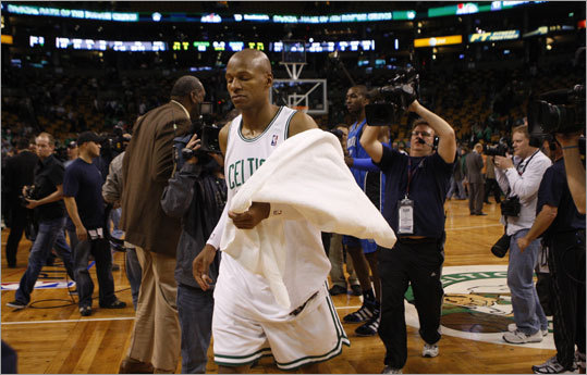 Ray Allen walked off the court after the Game 7 loss.