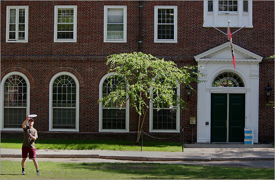 As a freshman at Harvard, JFK lived behind the wrought-iron gates of Harvard Yard in Weld Hall, before spending his remaining years at the college in Winthrop House along the banks of the Charles River. GPS coordinates: Lat: 42.373883 Lon: 71.117131