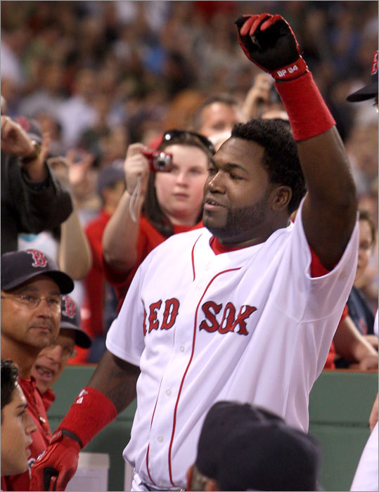 Ortiz received a curtain call from the 38,099 fans in attendance.