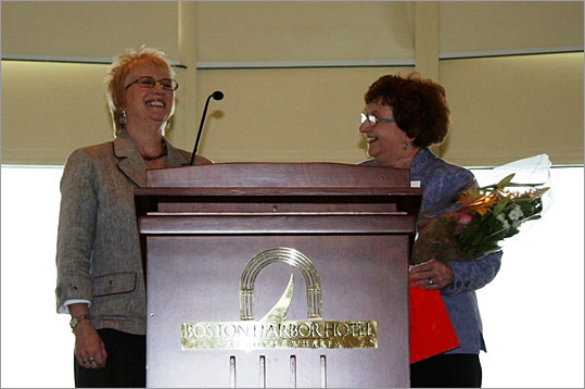 Nominator Susan Henderson and Honoree Kathy Gavini.
