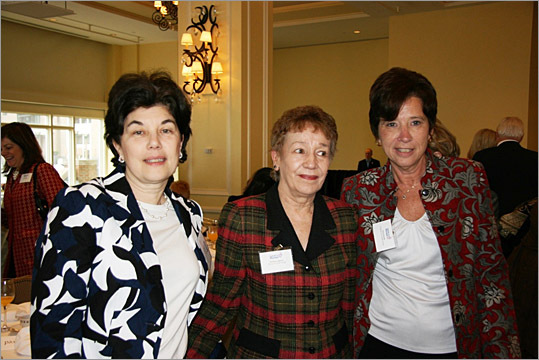 Salute to Nurses Faculty Judges: Marie Tobin and Doris Ferullo with faculty honoree Barbara Giguere (center).