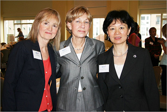 Salute to Nurses Judges: Gail Lenehan, Dorothy McCabe, and Lin Zhan.