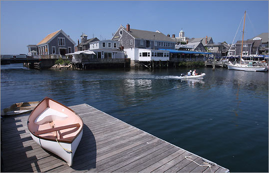 Woods Hole's small downtown is all but surrounded by water. Here's the view from Eel Pond.