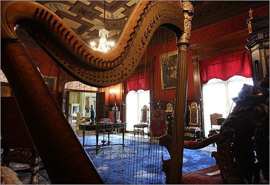 The music room of Belcourt Castle is one of the more than 50 rooms in the home.