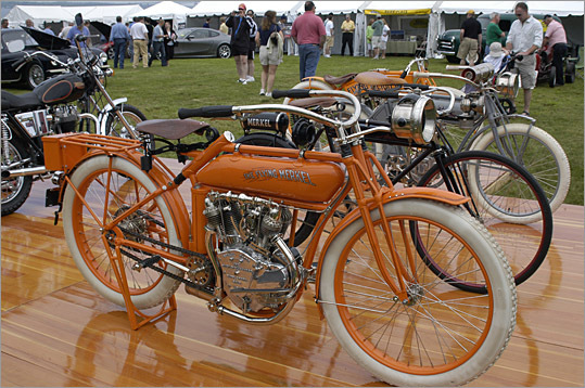 A few motorcycles were on display, including these Merkels.