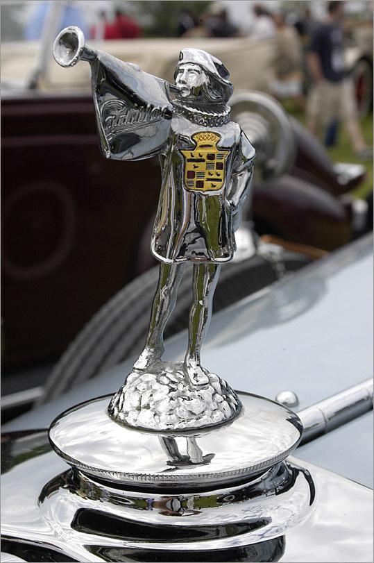 A Cadillac hood ornament.