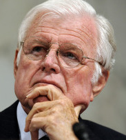 Senator Edward M. Kennedy is leaning toward creating a widely available Medicare-style public insurance option.