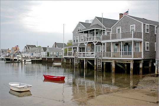 A view of the Easy Street Boat Basin on Nantucket Island.