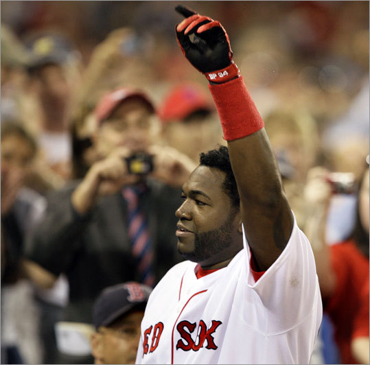 . . . the struggling David Ortiz. It's what Boston's been buzzing about for weeks: What will the Sox do with their designated hitter? The Sox fan favorite has two home runs this season -- including one over the weekend -- and was dropped to sixth in the lineup. Although he's riding a six-game hit streak and has a .300 average in June, he's still batting below the dreaded Mendoza Line (.197) and is seventh on the team in RBIs. Most troubling, though, may be the team-leading 55 strikeouts.