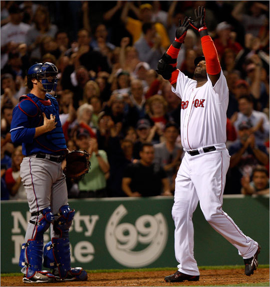 Lester wasn't the only one contributing to the feel-good night at Fenway Park. David Ortiz hit his second homer of the season, a line shot that barely stayed fair down the right field line.