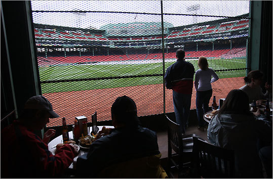After the Red Sox left the Huntington Avenue Grounds, they moved across the Fens to their new home. Fenway Park tours run year-round, and the Bleacher Bar has a huge window looking directly out to Fenway's emerald grass through the center-field wall. GPS coordinates: Lat: 42.347159 Lon: -71.097902 Address: 4 Yawkey Way