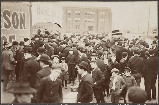 The Boston Public Library is the repository of the McGreevey Collection, which includes baseball photographs from 1875 to 1916 that were originally on display inside the Third Base Saloon owned by McGreevey. The highlights are from the first modern World Series in 1903 in which Boston defeated Pitts