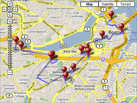 Both die-hards and bandwagon jumpers alike can get their sports fix even on off days by visiting stops along the Boston Sports Trail. Use our GPS tour to help make the most of it. Download the GPS route to your Garmin, TomTom, o