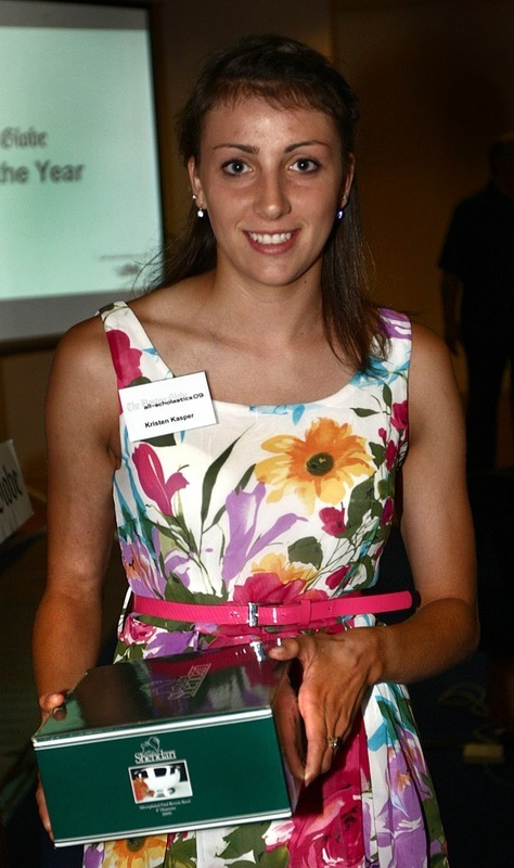 North Andover's Kirsten Kasper accepts her award for public school female Athlete of the Year