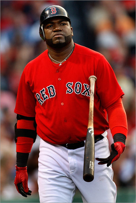 David Ortiz struck out in the second.