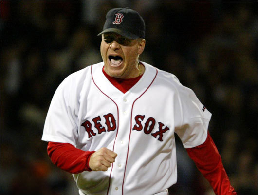 Curt Schilling Schilling was a star with the Phillies and Diamondbacks, winning a World Series titles with Arizona before coming to Boston during the historic 2004 season. His stellar performance in Game 6 of the ALCS against the Yankees became his defining moment in Boston, despite his bloody sock in the game (and again in Game 2 of the World Series). He pitched a gem again in Game 2 of the 2007 World Series and left to a standing ovation. Schilling missed the entire 2008 season before officially announcing his retirement in March 2009. ( Schilling's stats )