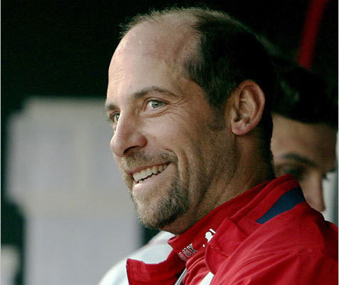 John Smoltz John Smoltz was a mainstay with the Atlanta Braves for over 20 years before a shoulder injury derailed his 2008 season and the team opted not to renew his contract. Boston took a chance on the legendary pitcher, signing the eight-time All-Star and former Cy Young winner to a one-year contract for 2009. Smoltz went a disappointing 2-5 with an 8.32 ERA in his stint with Boston, was subsequently released. The future Hall of Famer is currently an analyst with MLB Network. ( Smoltz's stats )