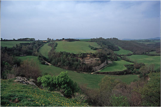 The ancient Etruscan settlement of Sorgenti della Nova has a sweeping view of Lazio and Tuscany.