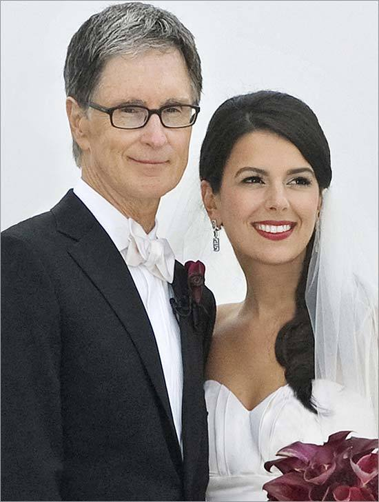 Amid fanfare worthy of the World Series, Red Sox owner John Henry married Linda Pizzuti, who has been a fixture on his arm since the two met a year ago. (Left), the newlyweds arrived at Rowes Wharf after having their wedding ceremony on Henry's yacht 'Iroquois.'