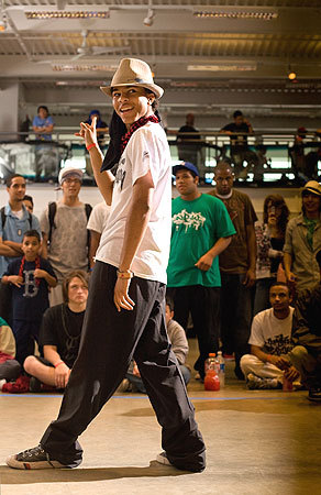 Cjaiilon Andrade, aka Snap2, of Boston, competed in the one-on-one popping battle during the Beantown Breakdown. FYI: Popping is a dance form that consists of contracting and relaxing muscles in time with the music.