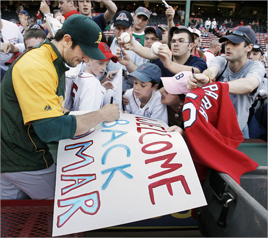 Garciaparra returned to Boston in 2009 for the first time in a visitor's uniform -- as a member of the Oakland Athletics. 'I love 'em. I love the way they treated me,' Garciaparra said of Red Sox fans during his return. Here's a look back at Garciaparra's tenure with the Sox and what he did in the years following his departure.
