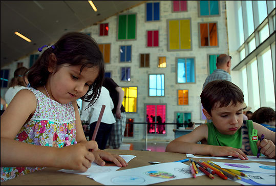 Boston's Institute of Contemporary Art features works made by adults, but special programs and the Poss Family Mediatheque inform and inspire children to get into t