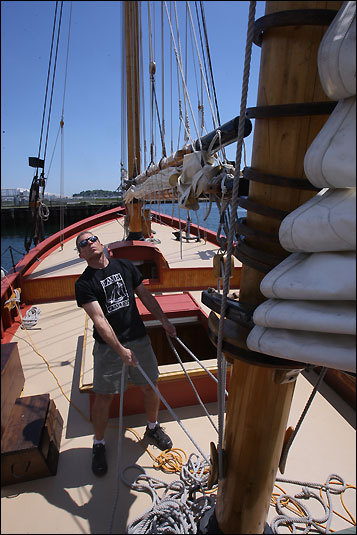 The days of pirates, it turns out, may not be so distant. But from Pickering Wharf Marina in Salem, a replica of the schooner Fame