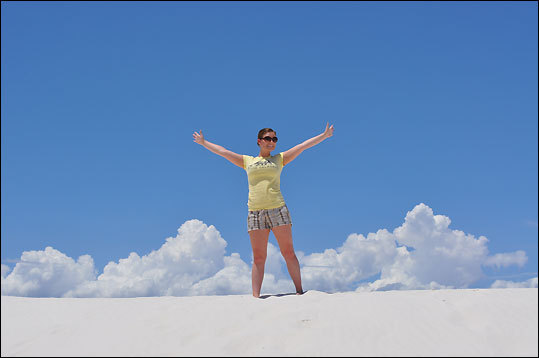At White Sands National Park.