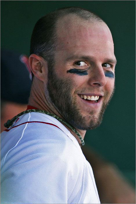 On the day he announced he would be skipping the All-Star Game to attend to his pregnant wife, Dustin Pedroia smiled in the dugout after scoring the first Boston run.