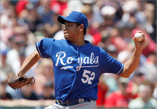 Bruce Chen started for the Royals but lasted just three innings, giving up three runs.