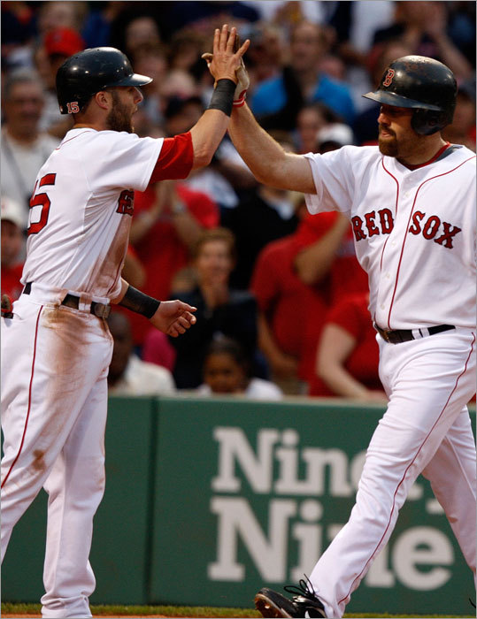 Sure, Dustin Pedroia, Kevin Youkilis (both pictured) and the rest of the Red Sox have the best record in the American League. But the truth is they haven't accomplished a darned thing yet. In some ways, their season has yet to even begin. In the wake of last night's annual All-Star Game, baseball will enter its decisive second phase of this season beginning tomorrow. Wild card standings now will be viewed daily in some cities. The Red Sox, like everyone else, have an array of issues and needs as the real games begin, even if they are in decidedly better shape than many of their fellow contenders. Here are 10 story lines to watch during the second half, beginning with the most obvious ...