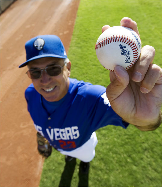 Now a pitching coach for the Las Vegas 51s of Triple A, Dave LaRoche is famous for his 20-foot high curve ball, once clocked at 28 miles per hour, called the 'LaLob'. The 61-year-old played for the Angels and Yankees, among others, in his 14-year career in the majors.