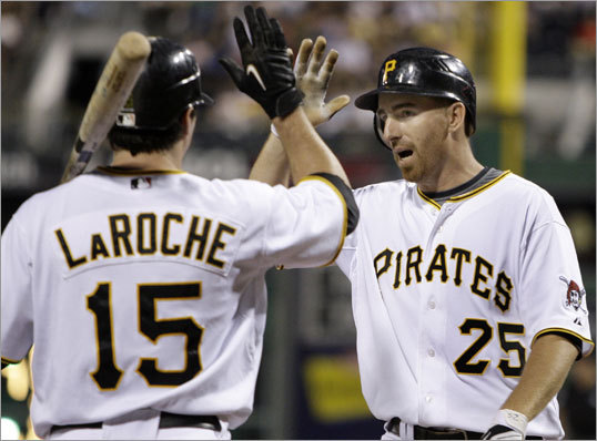 He's been on a bad team, but that doesn't mean LaRoche is a bad teammate. The slugger ripped Mets outfielder Carlos Beltran after Beltran called a sweep at the hands of LaRoche's Pirates 'embarrassing': 'I think it shows zero class and zero professionalism,' LaRoche told the Pittsburgh Post-Gazette. 'When somebody says that, they know what they're saying, and they know it's going to get out. He knows we're not going to be real happy about it. If you go and say that to your buddies, it's one thing. If you go to the media and make that public for us to hear, yeah, that's no class. You know, if we're as bad as he says we are and we swept them, then what's that make them?'