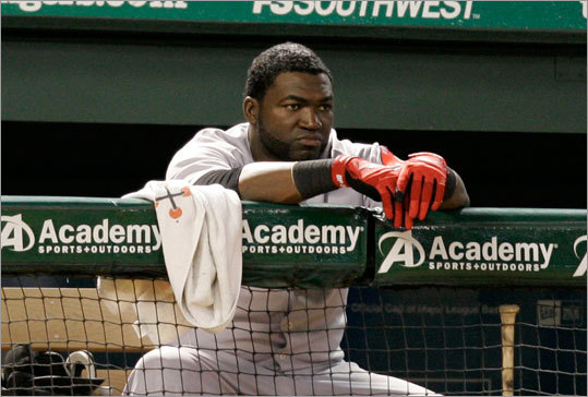 David Ortiz watches the action during the eighth inning during Tuesday's game.