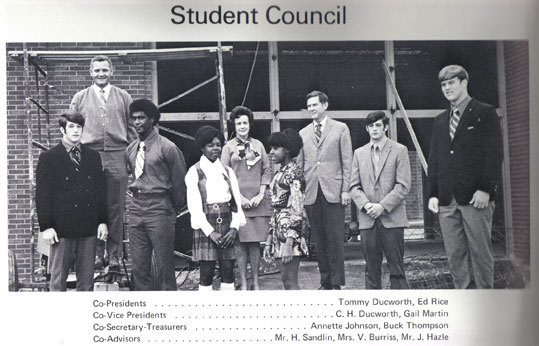 Ed Rice, as he was known in high school, was co-president of the 1971 Hanna High School (South Carolina) student council.