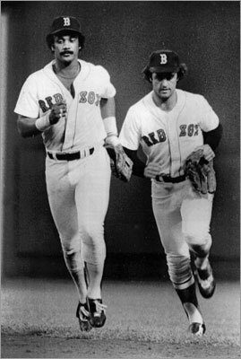 Rice was drafted by the Red Sox in the first round (No. 15 overall) of the 1971 draft and broke into the majors in 1974. However, his rookie year came in 1975. The ''Gold Dust Twins'' -- Rice and Fred Lynn -- were the Sox' most impressive rookie duo that season. Rice hit .309 with 22 homers and 102 RBIs, finishing second in Rookie of the Year balloting to Lynn, who hit .331 with 21 homers and 105 RBIs.