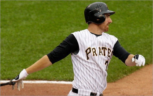 The Red Sox acquired Pirates first baseman Adam LaRoche in exchange for two prospects.