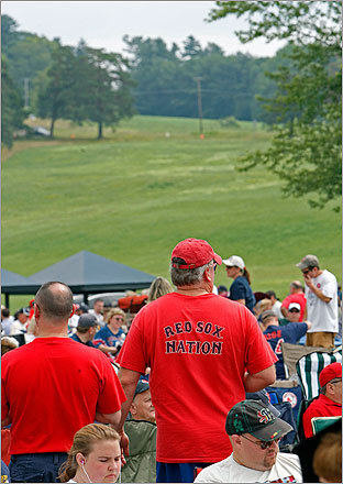 Red Sox Nation was well represented on the grounds of the Clark Sports Center.