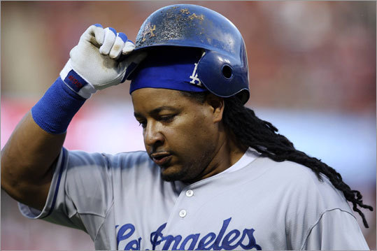 Manny Ramirez traded to Dodgers On July 31, 2008, controversial Red Sox slugger Manny Ramirez was dealt to the Los Angeles Dodgers in a three-team trade right at the trading deadline. In the deal, Ramirez was shipped to LA, and left fielder Jason Bay was shipped from Pittsburgh to Boston. The Pirates received third baseman Andy LaRoche, brother of Red Sox first baseman Adam LaRoche, and pitcher Bryan Morris from the Dodgers, and righthander Craig Hansen and outfielder Brandon Moss from the Red Sox.