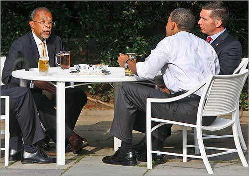 President Obama talked to Gates and Crowley.